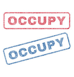 Occupy textile stamps vector