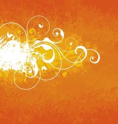 Orange floral background vector