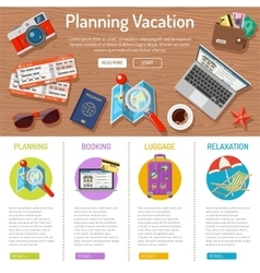 Planning vacation infographics vector