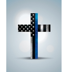 Police flag cross vector