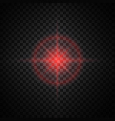 Red glow light effect vector