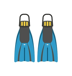 Scuba Diving Flippers vector image