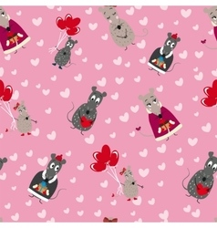 seamless pattern with mice vector image vector image