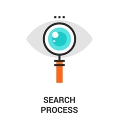 Search process icon vector