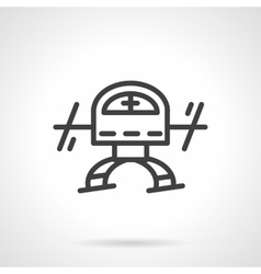 Simple black line copter icon vector