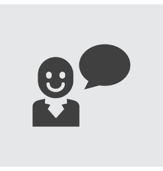 Speaking man icon vector image