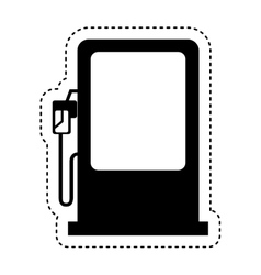 Station service fuel icon vector
