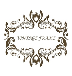 Vintage floral and foliate frame vector image