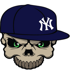 Yankee skull vector image vector image