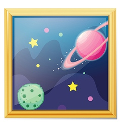 Planets cartoon vector