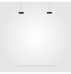 Empty space with clips for a poster banner vector
