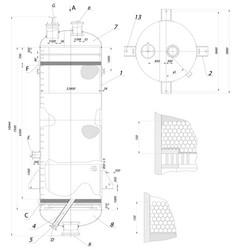 Recirculation column sketch image vector
