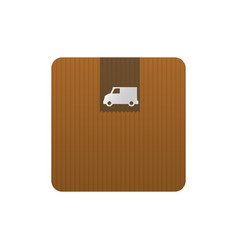 Delivery cardboard box vector