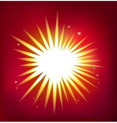 Shiny star isolated on red background vector
