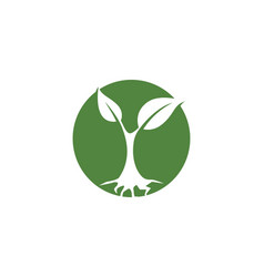 Logos of green leaf ecology nature element icon vector