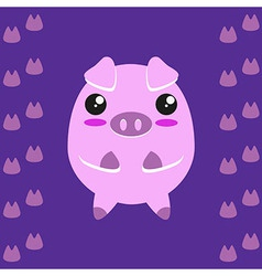 Kawaii piggy vector