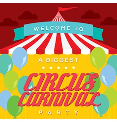 Circus carnival poster template vector