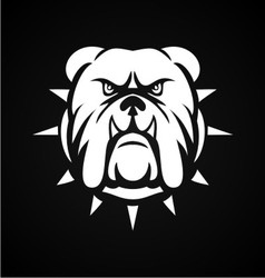 White bulldog face vector