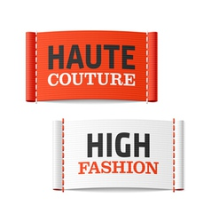 Haute couture and high fashion clothing labels vector