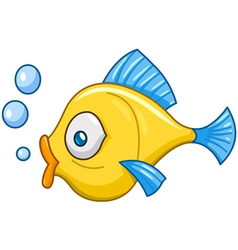 Fish with bubbles vector