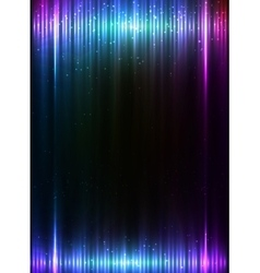 Blue vertical shining lights lines abstract vector