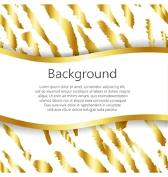 Abstract background with tiger print design vector