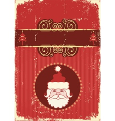 vintage portrait of santa vector image