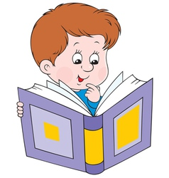 Reading boy vector