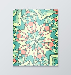 Cover books bright patterned cover for catalog vector