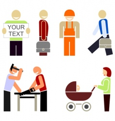 the people of various occupations vector image