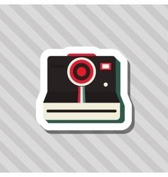 colorful retro design vector image