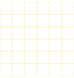 Yellow grid white background vector