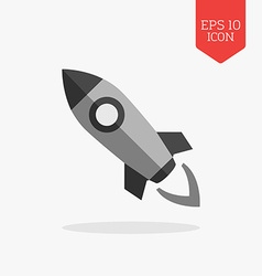Rocket icon flat design gray color symbol modern vector