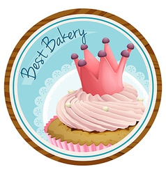 A best bakery label with a cake vector