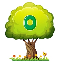 A tree with a number zero figure vector image vector image