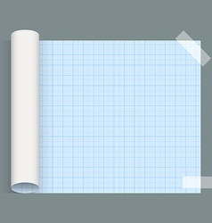 Big sheet of squared paper whatman fixed an tape vector