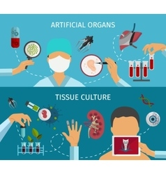 Biotechnology banner set vector