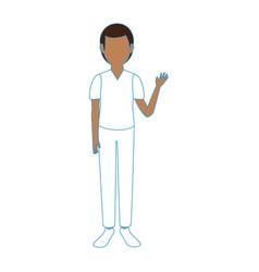 Boy faceless avatar vector