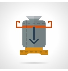 Coffee mill flat color icon vector