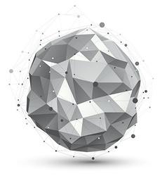 digital 3d abstraction lattice geometric orbital vector image