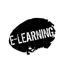 E-learning rubber stamp vector