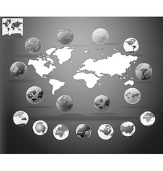 Elements infographic world map information vector