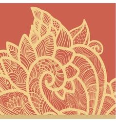 Floral pink background vector image