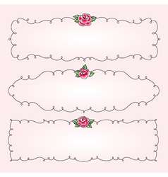 frames flowers horizontal vector image vector image