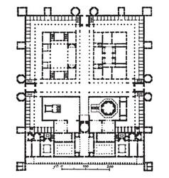 Palace of diocletian plan dioklecijanova palaca vector