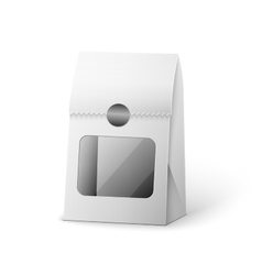 Paper bag package of coffee salt sugar pepper vector