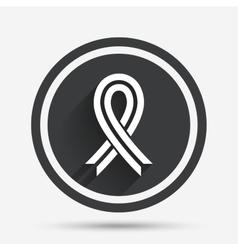 Ribbon sign icon Breast cancer awareness symbol vector image vector image