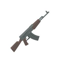 russian assault rifle cartoon vector image
