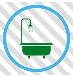 Shower bath icon vector