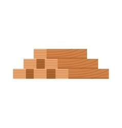 Stack of nine wooden logs firewood lumber tree cut vector image vector image